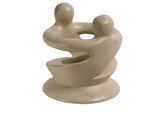 Hand Crafted Natural Soapstone Lovers Tealight Holder - Fair Trade