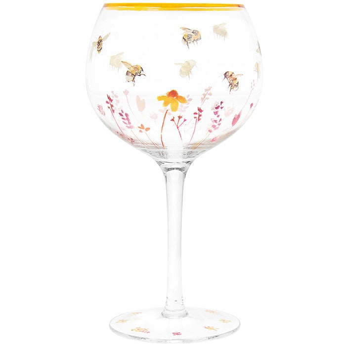 Busy Bee Gin Glass