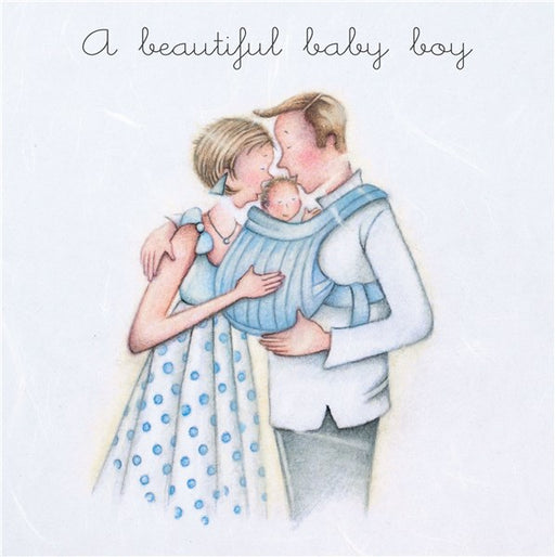 New Baby Card - A Beautiful Baby Boy - Berni Parker
