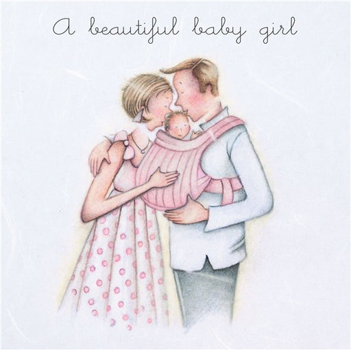 New Baby Card - A Beautiful Baby Girl - Berni Parker