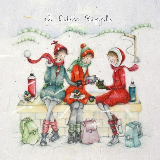 Christmas Card - A Little Tipple - Berni Parker