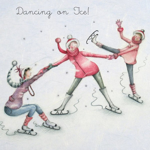 Christmas Card - Dancing on Ice! - Berni Parker