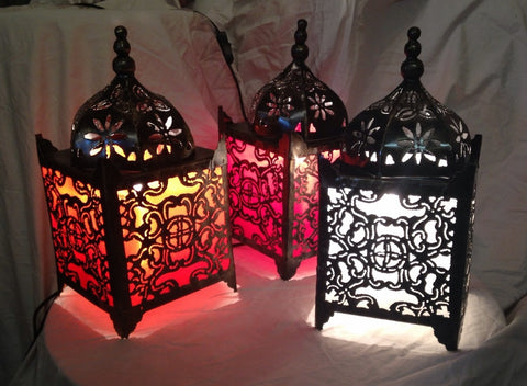 Moroccan Table Lamp - Orange Temple Lamp