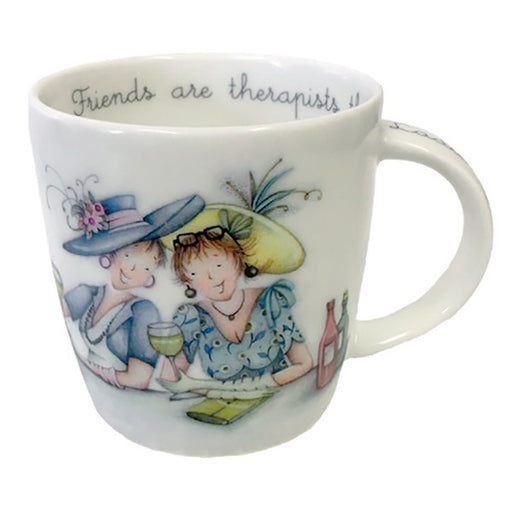 Friend Mug - Friends Are Therapists - Berni Parker Bone China Mug, Designed and Made in the UK