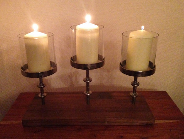 Multi Rise And Fall Pillar Candle Stand 3 Pillar Candles Gingerinteriors Co Uk