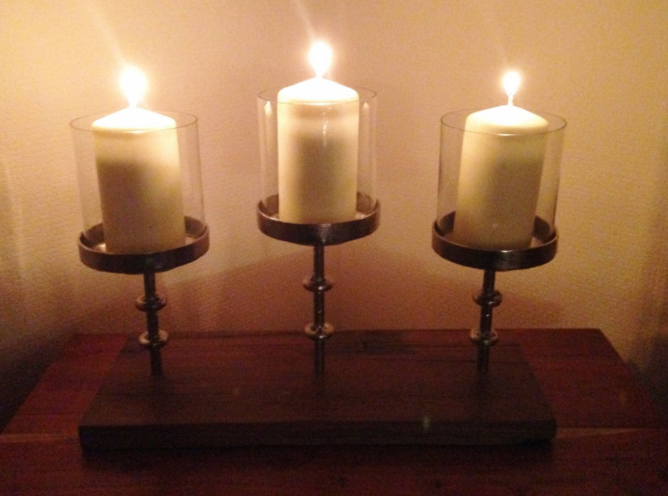 Multi Rise and Fall Pillar Candle Stand - 3  Pillar Candles