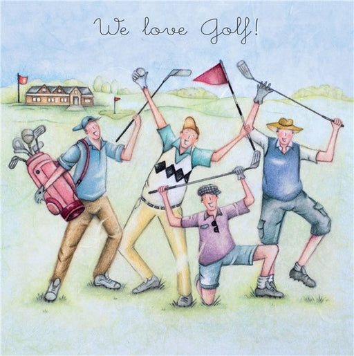 Golf Birthday Card - We Love Golf! - By Berni Parker