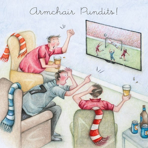 Armchair Pundits! Man's Greeting Card