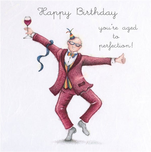 Happy Birthday...You're aged to perfection! Man's Birthday Card
