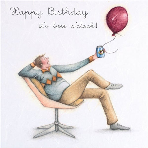 Happy Birthday...It's Beer O'clock! Man's Beer Birthday Card