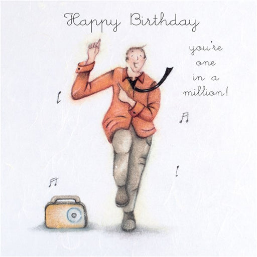 Happy Birthday...You're one in a million! Man's Birthday Card