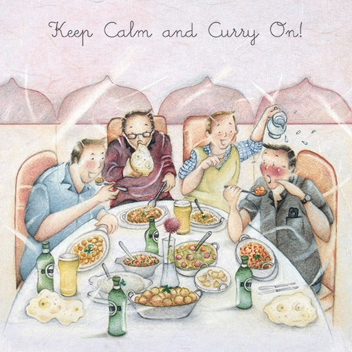 Curry Card - Keep Calm and Curry On!  Berni Parker
