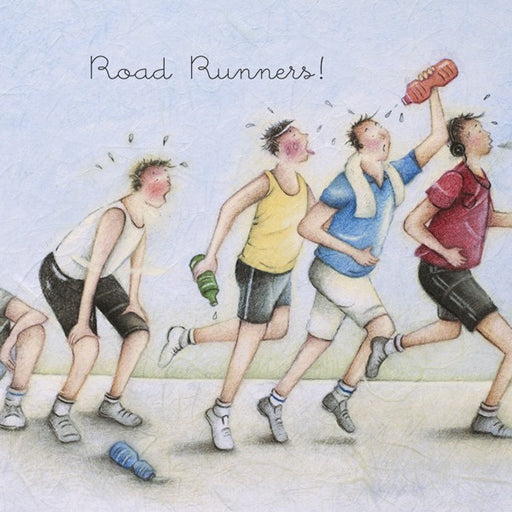 Road Runners! Man's Greeting Card