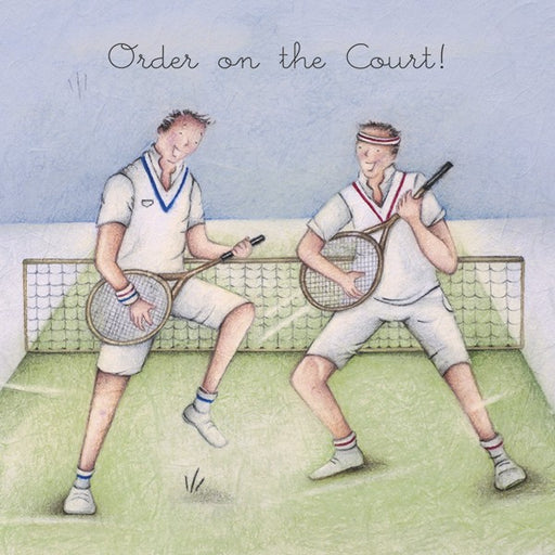 Tennis Card - Order on the Court! - Berni Parker