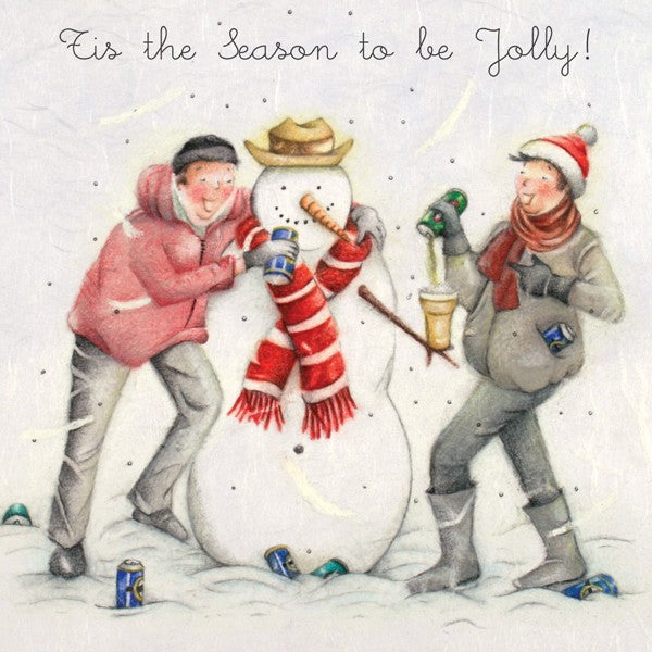 Man's Christmas Card - Tis The Season To Be Jolly! from Berni Parker