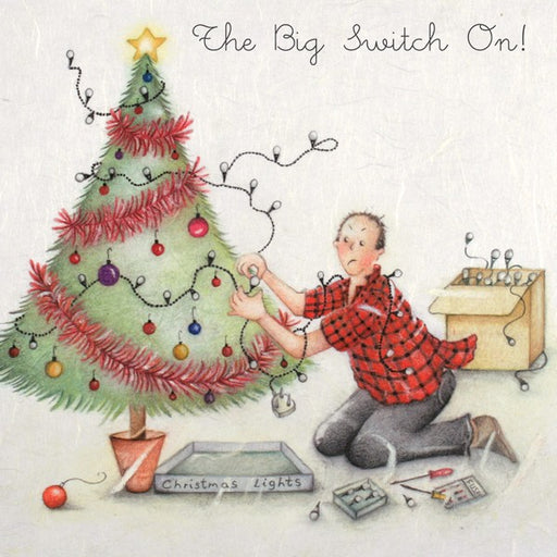 Christmas Lights Christmas Card - The Big Switch On! from Berni Parker