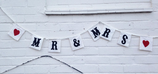 Mr and Mrs - Traditional Fabric Bunting