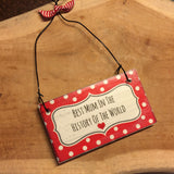 Handmade Hanging Plaque - BEST MUM