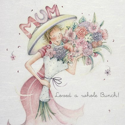 Card for Mum - Loved a whole Bunch!