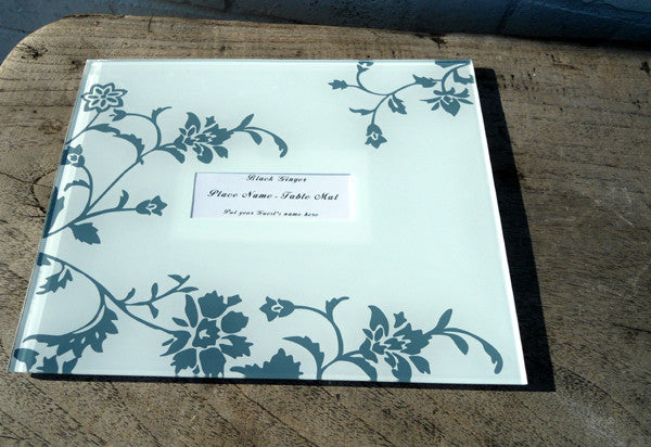 Table Name Holder - Glass Place Name Placemats
