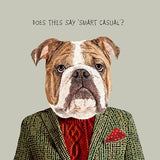 "Mans Birthday Card, Does this say ""Smart Casual""? From Sally Scaffardi Design"