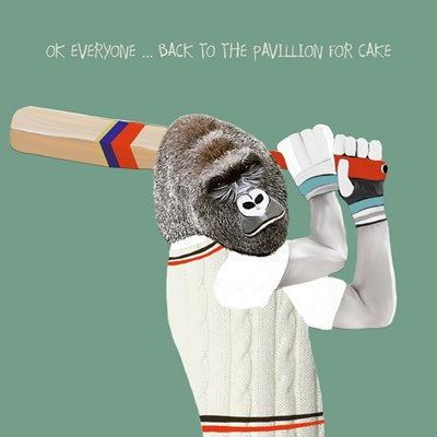 Cricket Birthday Card, OK Everyone...Back to the pavillion for cake, From Sally Scaffardi Design