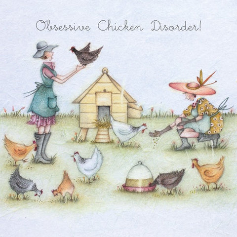 Chicken Card - Obsessive Chicken Disorder! - Berni Parker