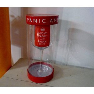Wine Glass - NOW PANIC AND FREAK OUT