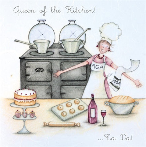 Aga Birthday Card - Queen of the Kitchen! Berni Parker