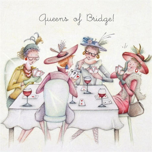 Ladies Bridge Card - Queens of Bridge!
