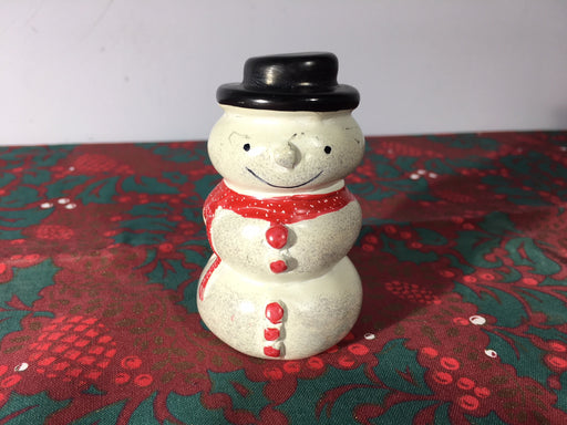Natural Soapstone Snowman Ornament