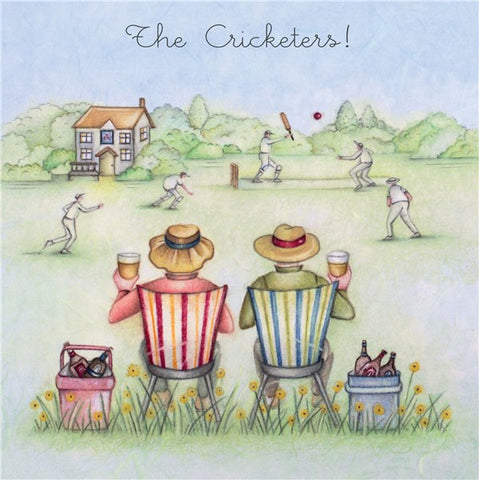 Cricket Birthday Card - The Cricketers! - Berni Parker