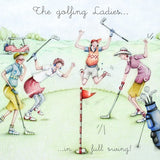Ladies Golf Card - The Golfing Ladies....in full swing! - Berni Parker