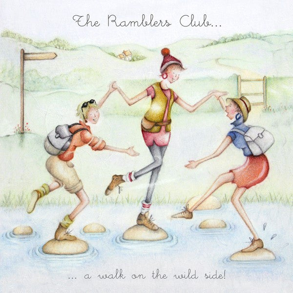 Walking Card - The Ramblers Club - Berni Parker