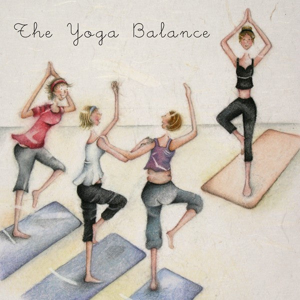 Yoga Birthday Card - The Yoga Balance - Berni Parker