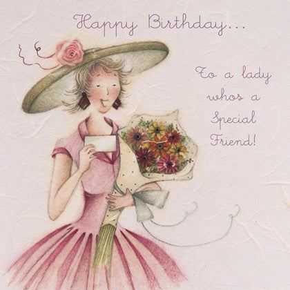 Happy Birthday Card - To a lady who's a Special Friend!