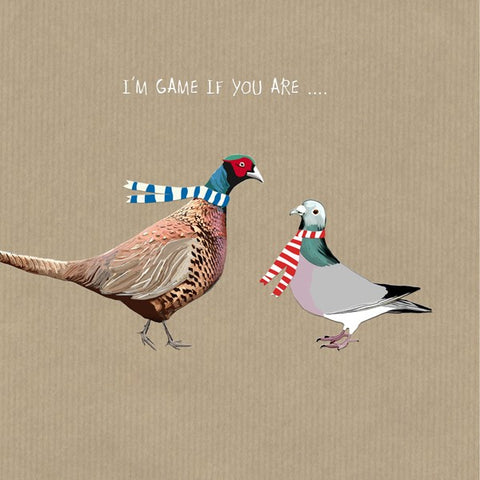 I'm Game Birthday Card.  From Sally Scaffardi Design