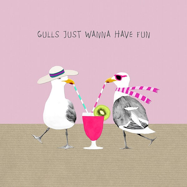 Gulls just want to have fun. From Sally Scaffardi Design