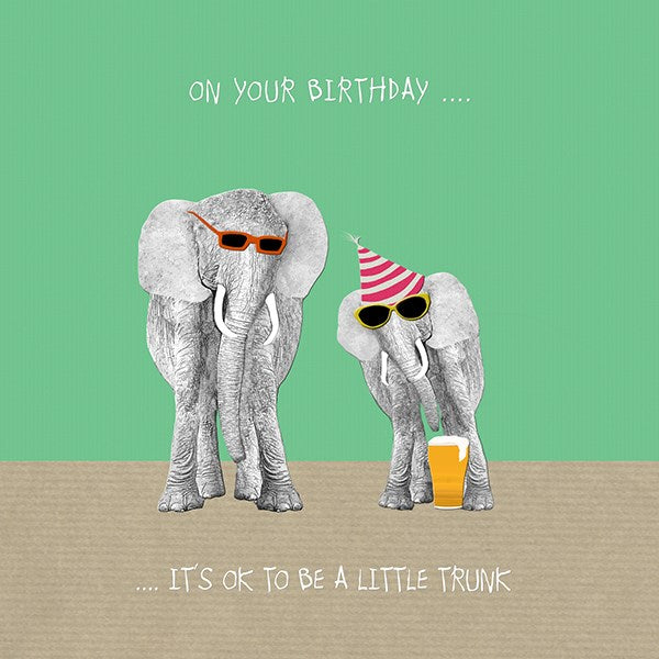 Elephant Birthday Card