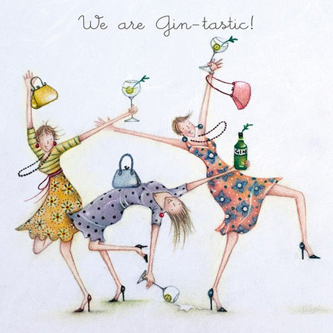 Gin Birthday Card - We are Gin-tastic! Berni Parker