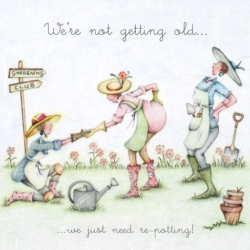 Gardening Card - we just need re-potting