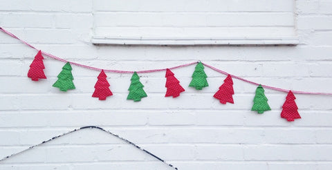Christmas Bunting - Traditional Christmas Tree Garland