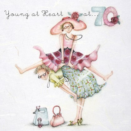 Ladies 70th Birthday Card - Young at Heart at .. 70