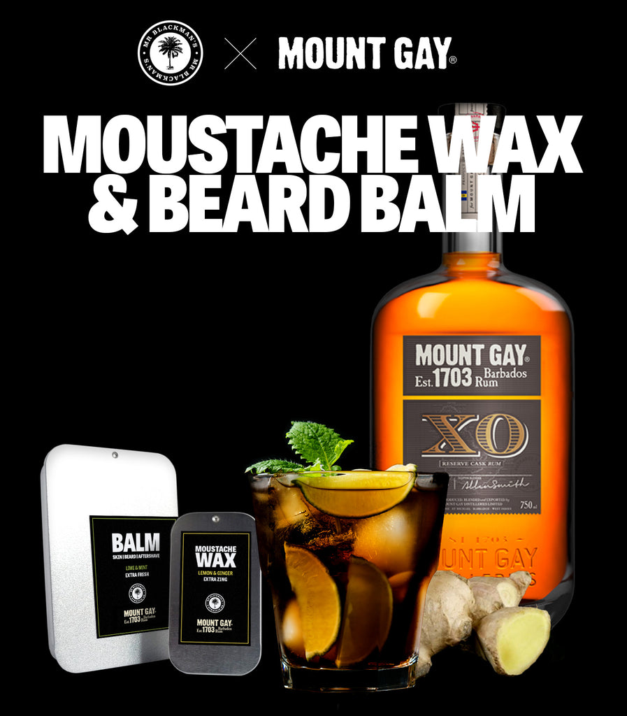 Mr Blackman's X Mount Gay® Moustache Wax & Beard Balm