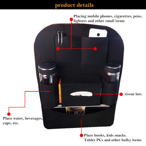 Details of the multi backseat car pocket