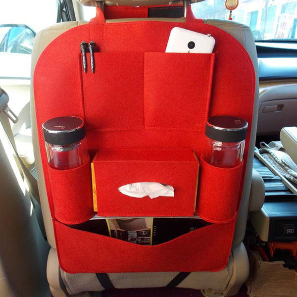Red Multi Storage Backseat Car Organizer
