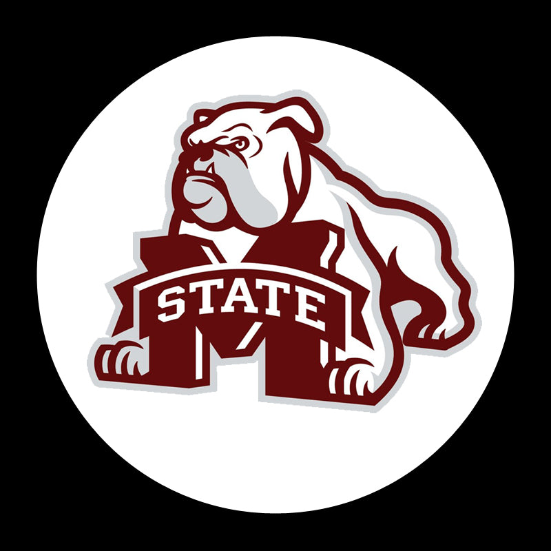2 Wireless LED Mississippi State Bulldogs Shadow Car Door Light