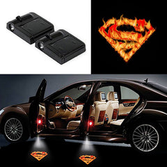 2 Wireless LED Laser Superman Car Door Light