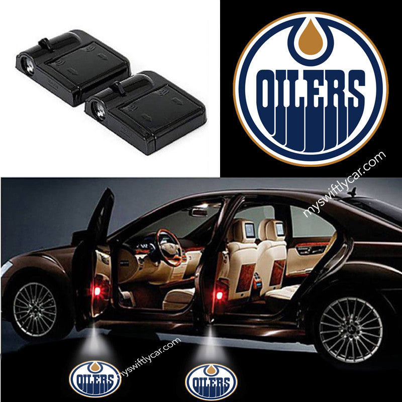 2 Wireless LED Laser Edmonton Oilers Shadow Car Door Light