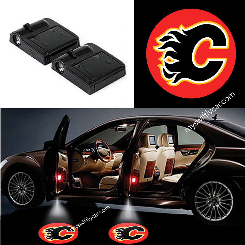 Calgary Flames best cheapest free wireless car light logo led